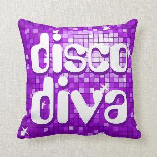 Disco Tiles Purple 'disco diva' throw pillow