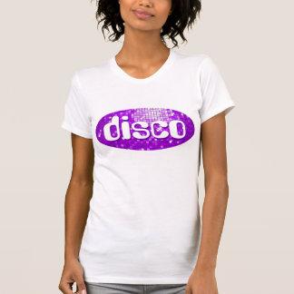 Disco Tiles Purple 'disco'  ladies petite white T-Shirt