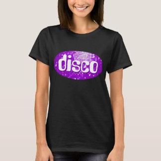 Disco Tiles Purple 'disco' t-shirt black