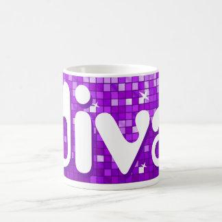 Disco Tiles Purple 'diva' mug