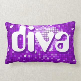 Disco Tiles Purple 'diva' throw pillow amelia text