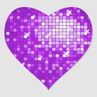 Disco Tiles Purple sticker heart