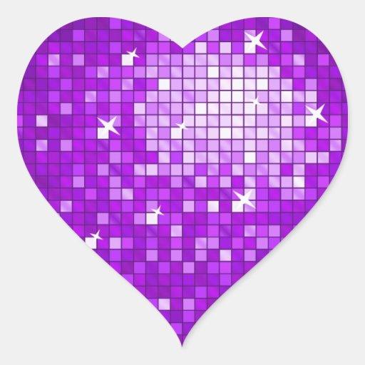 Disco Tiles Purple sticker heart