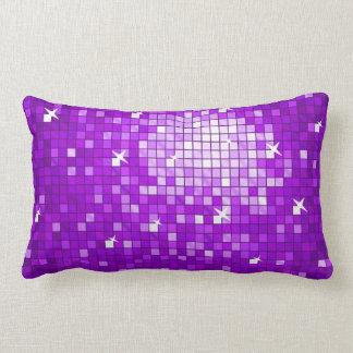 Disco Tiles Purple throw pillow