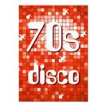 Disco Tiles Red 70s Disco invitation