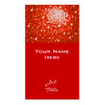 Disco Tiles Red business card top