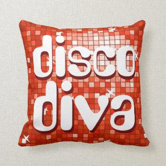 Disco Tiles Red 'disco diva' throw pillow