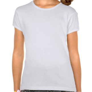 Disco Tiles Red 'disco'  girls fitted white Tshirts