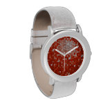 Disco Tiles Red print watch