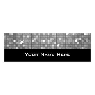 "Disco Tiles ""Silver"" business card skinny black"