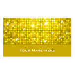 Disco Tiles Yellow business card