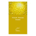 Disco Tiles Yellow business card top