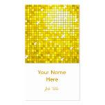Disco Tiles Yellow business card white portrait