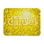 Disco Tiles Yellow 'diva' premium magnet