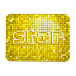 Disco Tiles Yellow 'star' premium magnet