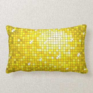 Disco Tiles Yellow throw pillow