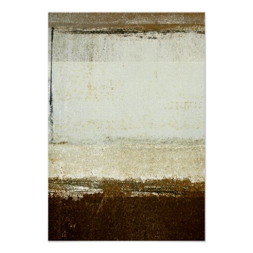 'Discoid' Neutral Abstract Art Poster