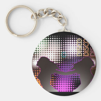 Discolight.-cool Basic Round Button Key Ring