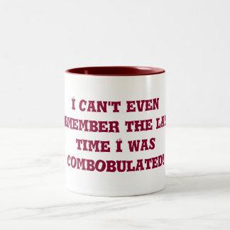 discombobulated Two-Tone coffee mug