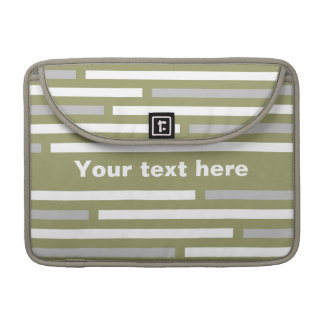 Disconnected Stripes custom MacBook sleeve
