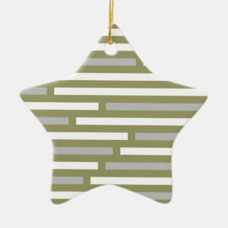 Disconnected Stripes ornament, customizable Ceramic Star Decoration