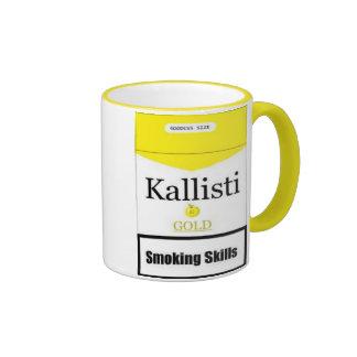 Discordian Cigarettes Ringer Coffee Mug
