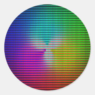 DiscoTech 5 Round Sticker