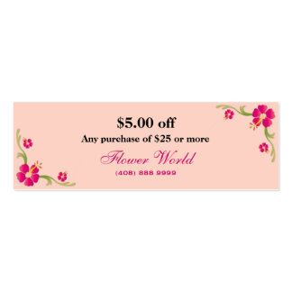 Discount Card Double-Sided Mini Business Cards (Pack Of 20)