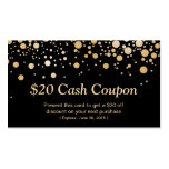 Discount Coupon Card Bright Black Gold Confetti Pack Of Standard Business Cards