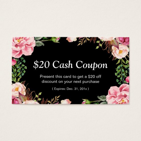 Discount Coupon Card For Hair Style Beauty Salon