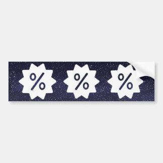 Discount Offs Symbol Bumper Sticker