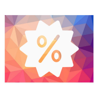 Discount Offs Symbol Postcard