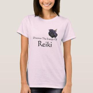 Discover Energy Of Reiki Purple Rose T-Shirt