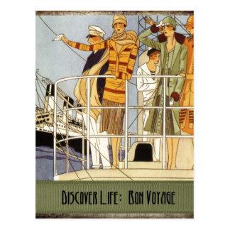 Discover Life:  Bon Voyage Postcard