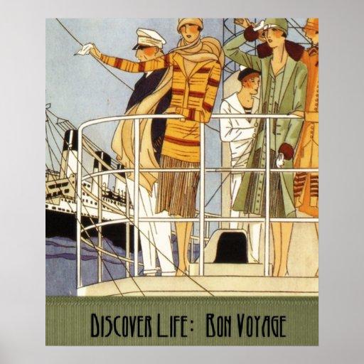 discover life  bon voyage print