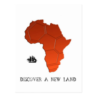 Discover New Land by soccer Postcard