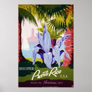 Discover Puerto Rico, USA Poster