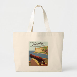 Discover Puerto Rico, Where the Americas meets Large Tote Bag