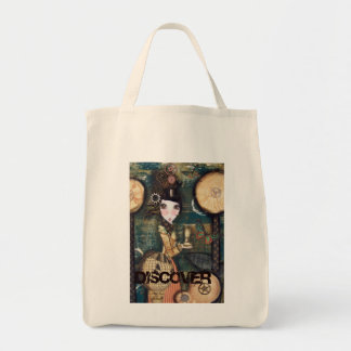 Discover Steampunk Grocery Tote Bag