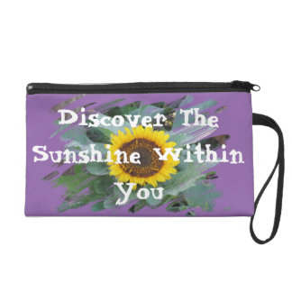 Discover The Sunshine Within You - Wristlet