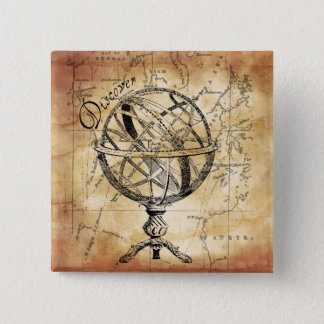 Discover the World 15 Cm Square Badge