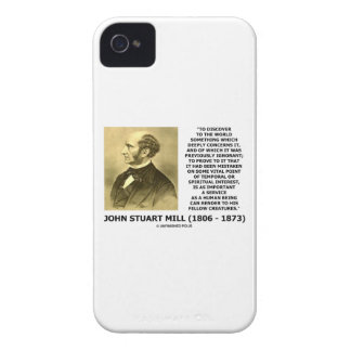 Discover To The World Service Human Beings JS Mill iPhone 4 Covers