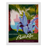 Discover Travel, Puerto Rico History Poster