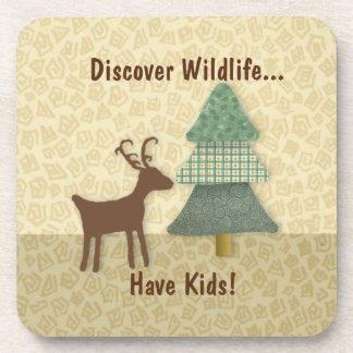 Discover Wildlife Cork Coaster