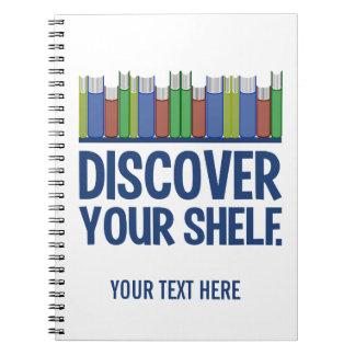 Discover Your Shelf custom notebook