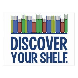 Discover Your Shelf postcard, customizable Postcard