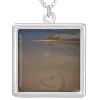 Discovering and falling in love with new places silver plated necklace