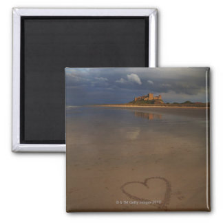 Discovering and falling in love with new places square magnet