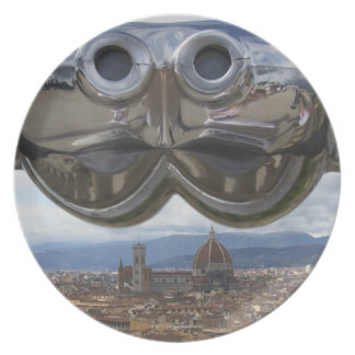 Discovering Florence in Italy Plate