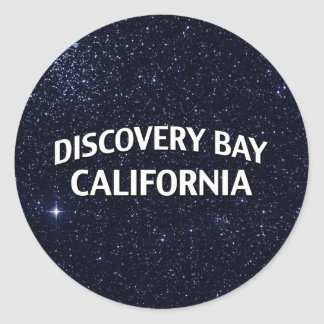 Discovery Bay California Round Stickers